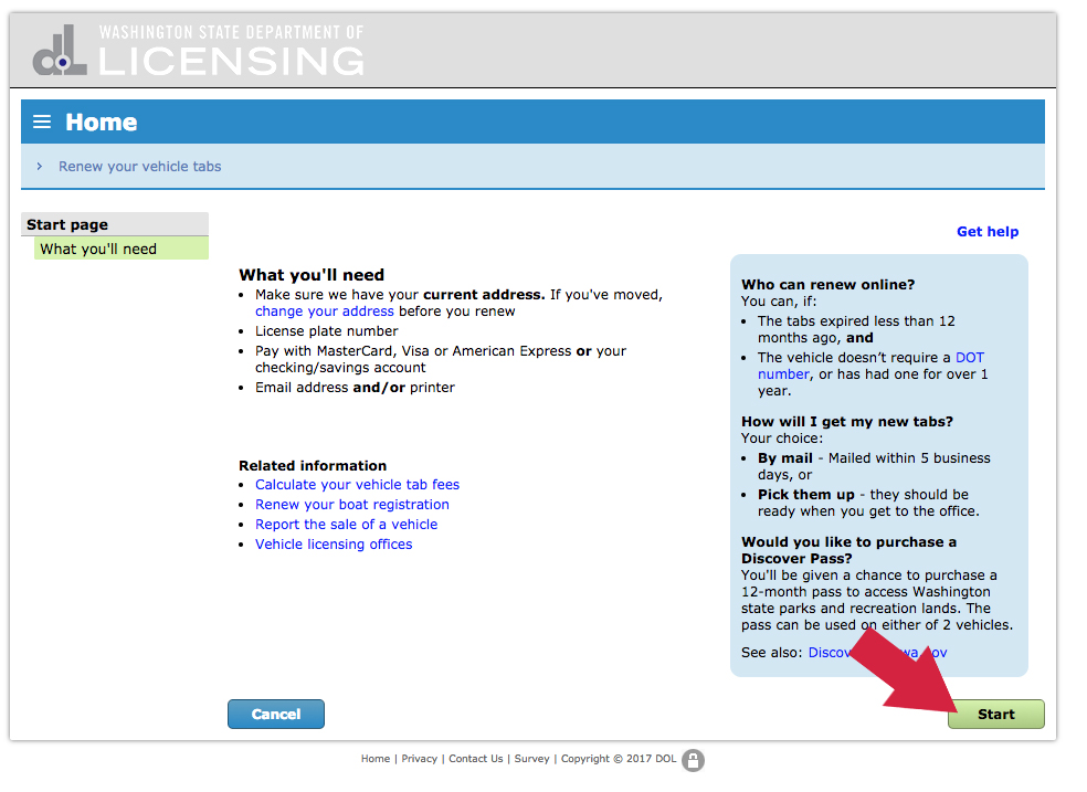 Renew Online | Federal Way Licensing Services